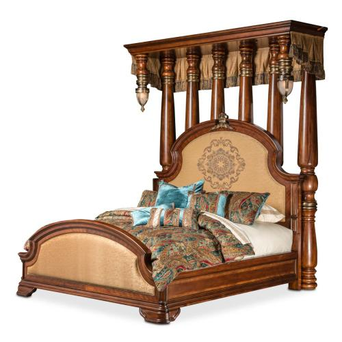 Eastern King Half Tester Bed (7 Pc)