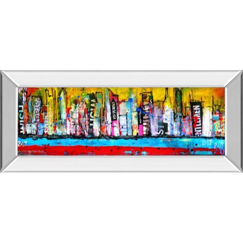 """""""Skyline"""" By Erin Ashley Mirror Framed Print Wall Art"""
