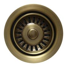 "3 1/2"" Waste Disposer Trim with Matching Basket Strainer - Antique Brass"