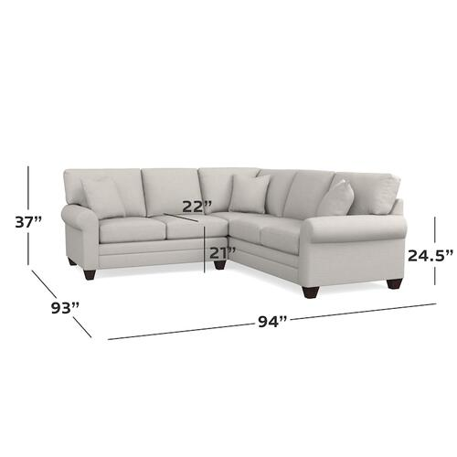 CU.2 Custom Sectional, Arm Style Canted