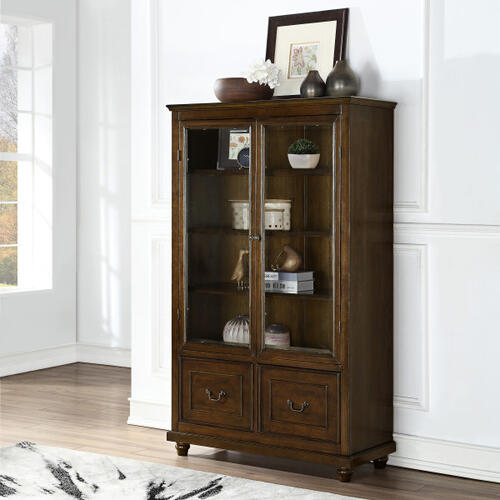 Display Cabinet Bookcase with Storage Drawers (Component 2 of 2)