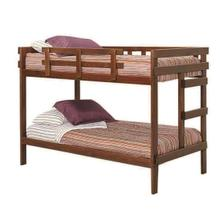 See Details - Heartland 2 x 4 Bunk Bed with options: Chocolate, Twin over Twin