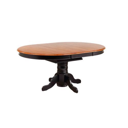 Pedestal Dining Set w/China Cabinet (7 Piece)