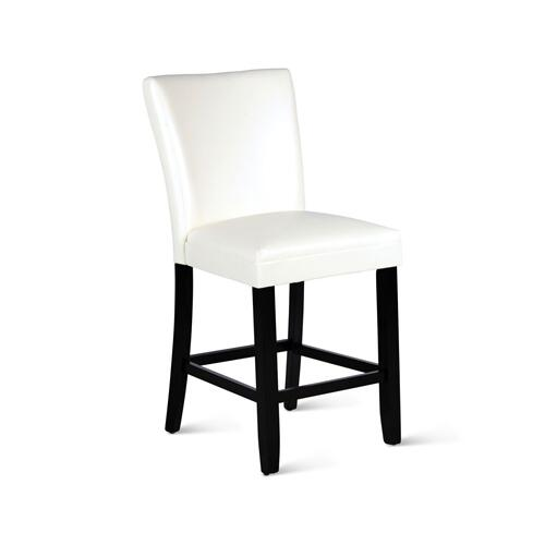 "Matinee PU Counter Chair [1/2"" Memory Foam], White"