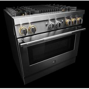 """JennAir - RISE™ 36"""" Dual-Fuel Professional Range with Gas Grill"""