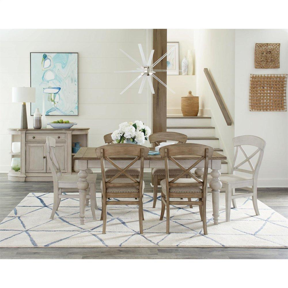 RiversideSouthport - Dining Table - Smokey White/antique Oak Finish