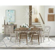 Southport - Dining Table - Smokey White/antique Oak Finish