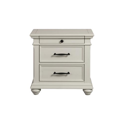 Elements - Slater 3-Drawer Nightstand with USB Ports