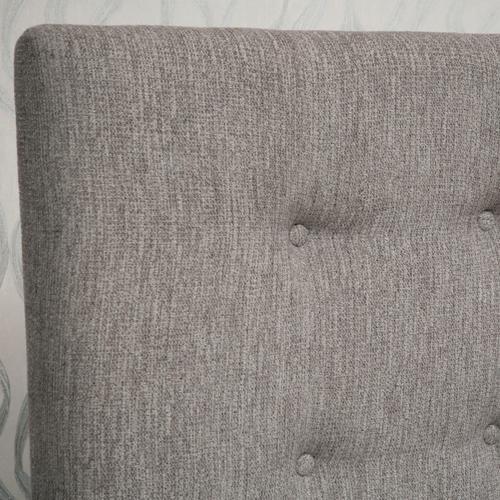 Biscuit Tufted Upholstered Queen Headboard in Grey