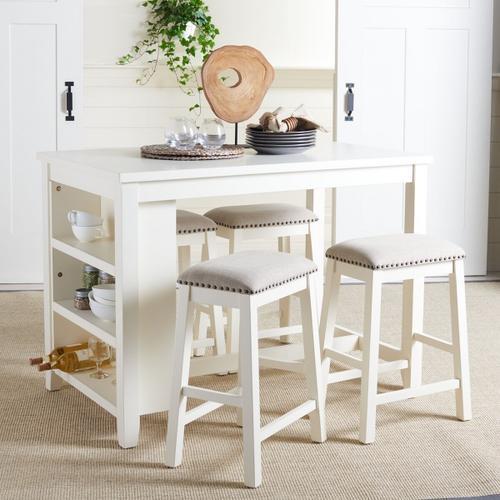 Aero Rectangle Counter Table - White