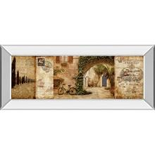 Tuscan Courtyard By Keith Mallet (mirrored Frame)