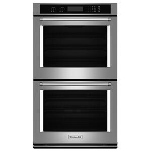 "KitchenAid30"" Double Wall Oven with Even-Heat™ Thermal Bake/Broil - Stainless Steel"