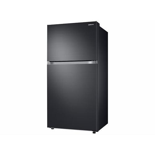 Samsung - 21 cu. ft. Top Freezer Refrigerator with FlexZone™ in Black Stainless Steel