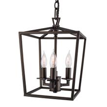 Cage Mini Chandelier - Bronze