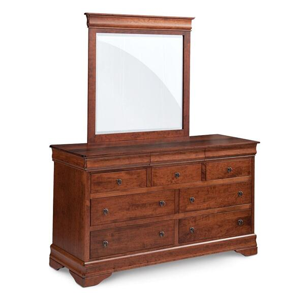 See Details - Louis Philippe 7-Drawer Dresser, 62'w x 22'd x 36'h