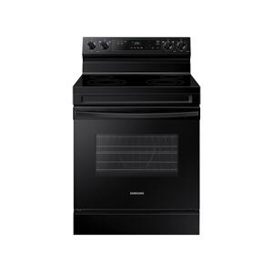 6.3 cu. ft. Smart Freestanding Electric Range with Steam Clean in Black Product Image