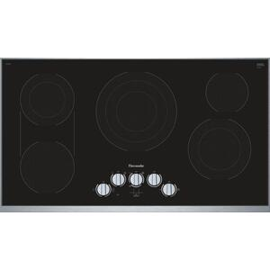 Thermador36-Inch Masterpiece® Knob Control Electric Cooktop, Black, Framed