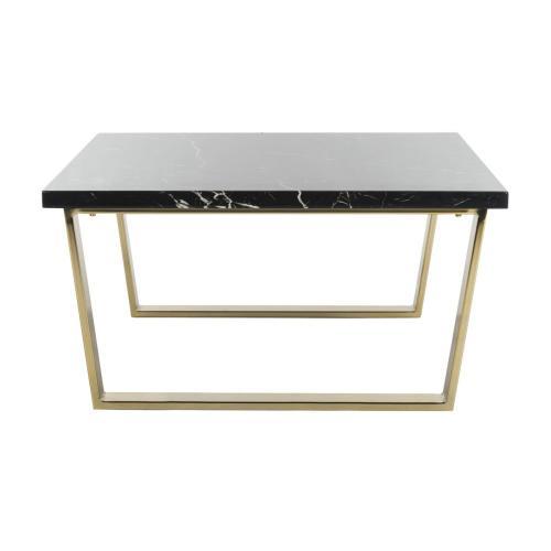 Safavieh - Carmen Square Coffee Table - Black Marble / Brass