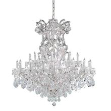 Maria Theresa 25 Light Swarovski Strass Crystal Chrome Chandelier