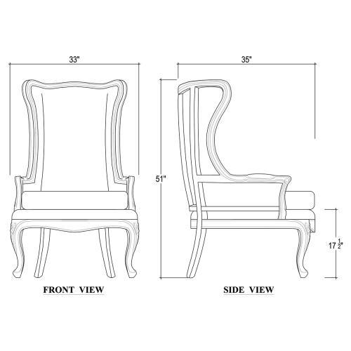Brittany Wing Chair w/o Tufted Cushion