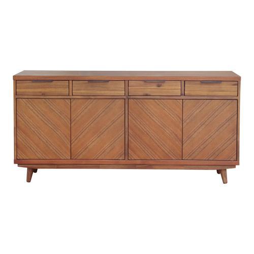 Product Image - Piero KD Chevron Buffet 4 Drawers + 4 Doors, Monterey Brown