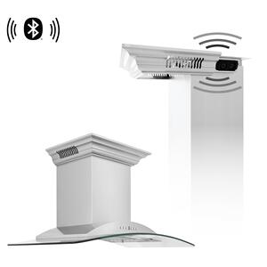 Zline KitchenZLINE Wall Mount Range Hood in Stainless Steel with Built-in CrownSound™ Bluetooth Speakers (KNCRN-BT) [Size: 30 Inch]