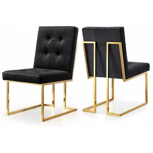 "Pierre Velvet Dining Chair - 18.5"" W x 25"" D x 36.5"" H"