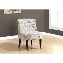 ACCENT CHAIR - TRADITIONAL STYLE VINTAGE FRENCH FABRIC