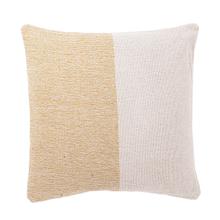 See Details - Ochre & Natural Stripe Woven Pillow