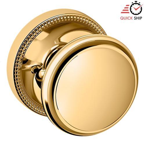Baldwin - Lifetime Polished Brass 5069 Estate Knob with 5076 Rose
