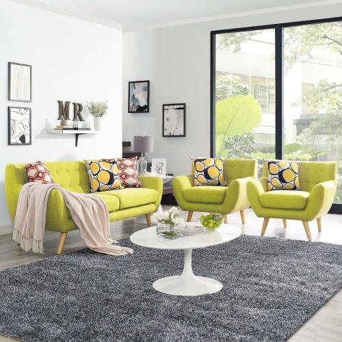 Remark 3 Piece Living Room Set in Wheatgrass