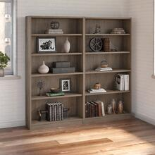 Universal Bookcases 5 Shelf Bookcase Set of 2 - Rustic Gray
