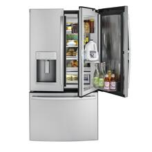 GE® 27.8 Cu. Ft. French-Door Refrigerator with Door In Door Quick Access