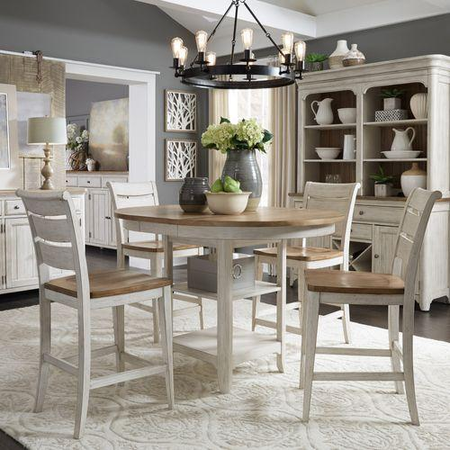Liberty Furniture Industries - Opt 5 Piece Gathering Table Set