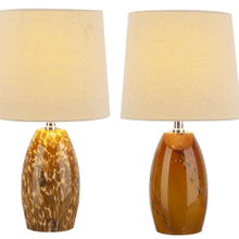 Amber Art Glass Accent Lamp. 40W Max. (Each One Will Vary). (4 pc. ppk.)