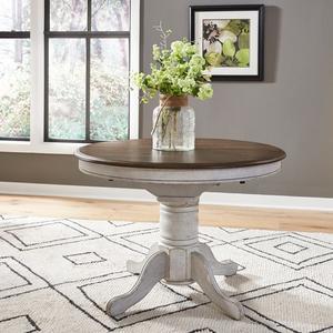 Liberty Furniture Industries - Pedestal Table Set- White
