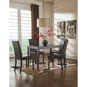 Kimonte Table & 4 Chairs Dark Brown