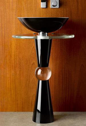 Cono Pedestal - Shown with 210 Basin and Cristal Countertop Product Image