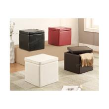 View Product - Ottoman - Red Pu