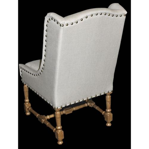 Linen Wing Side Chair