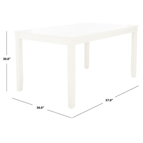 Silio Rectangle Dining Table - White