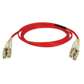 Duplex Multimode 62.5/125 Fiber Patch Cable (LC/LC) - Red, 5M (16 ft.)