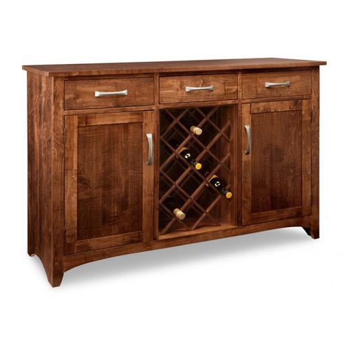 - Glengarry Sideboard w/2 Wood Doors & 3/Drws & 2/Wood Adjust & Wine Rack