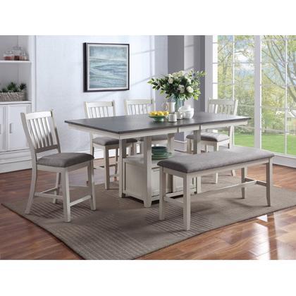See Details - Buford Ctnr Height Chair Chalk Grey