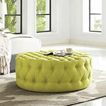 See Details - Amour Upholstered Fabric Ottoman in Wheatgrass