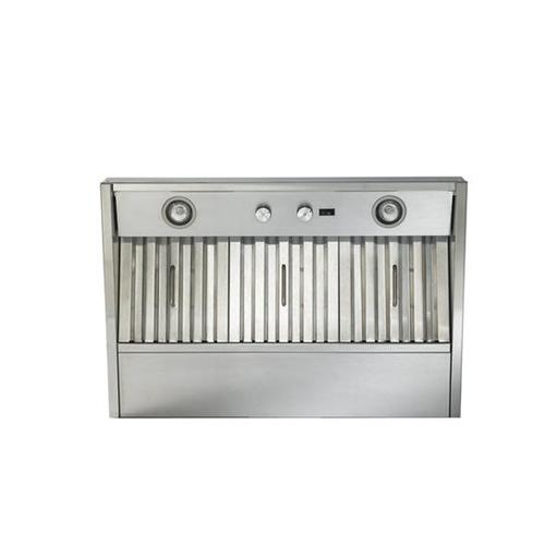 "34-3/8"" Stainless Steel Built-In Range Hood with 290 Max CFM Internal Blower"