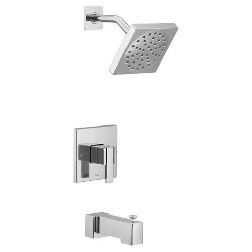 90 Degree chrome m-core 3-series tub/shower
