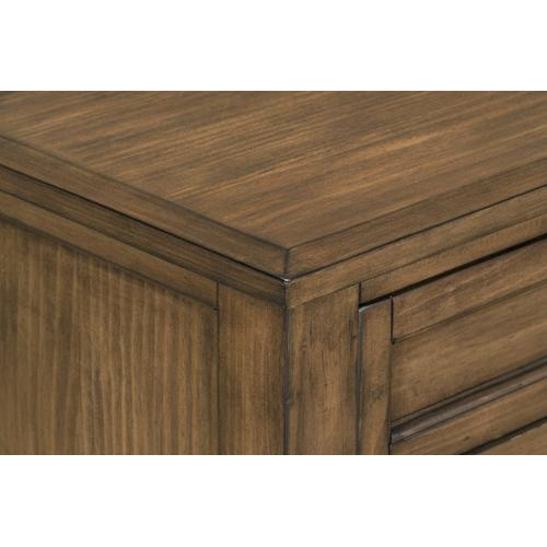 Aspen 3-Drawer Nightstand, Brown