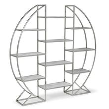 Hoop Etagere In Polished Stainless Steel