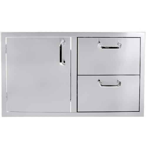 """5-Burner 36"""" Single Door/2-Drawer Combo"""